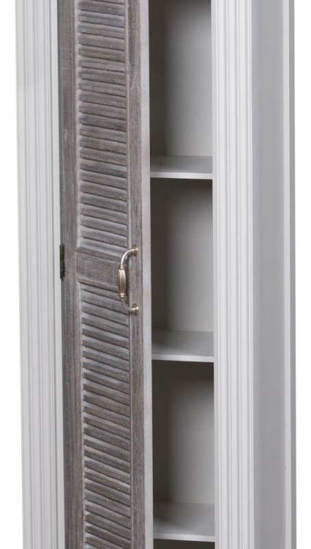 The Liberty White Painted Tall Cabinet With Louvred Doors