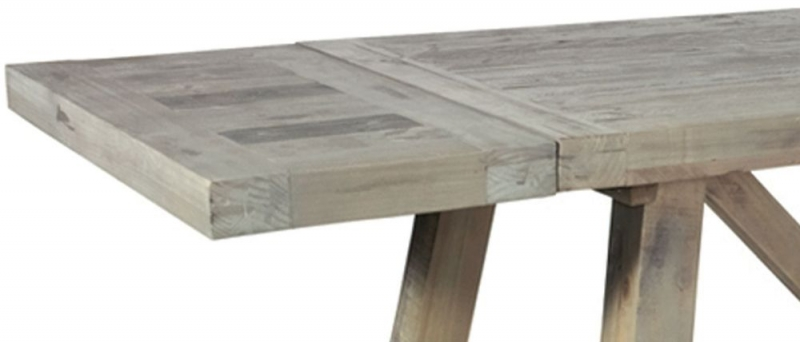 Rowico Saltash Reclaimed Pine Small Extending Dining Table with Leaves
