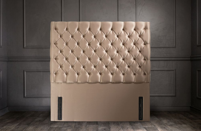 Chrystal Floor Standing Fabric Headboard