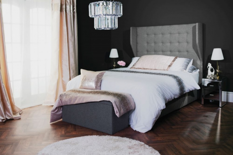 Luna Floor Standing Fabric Headboard
