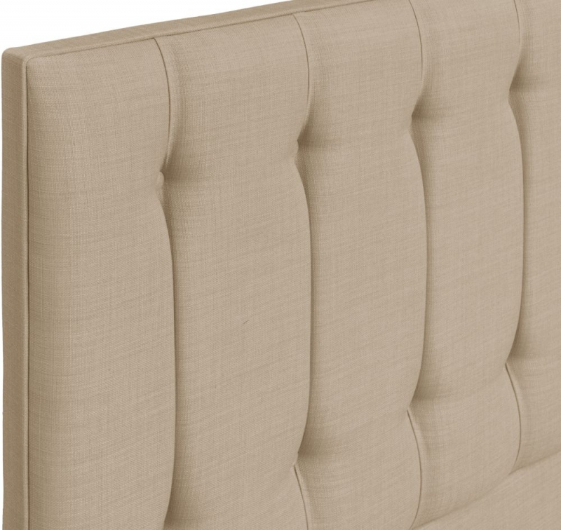Tamar Grand Floor Standing Beige Fabric Headboard