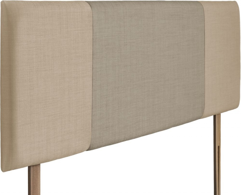 Seville Beige and Fudge Fabric Headboard