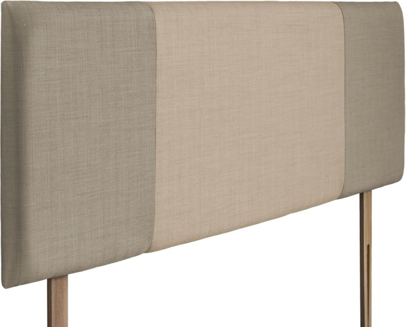 Seville Fudge and Beige Fabric Headboard
