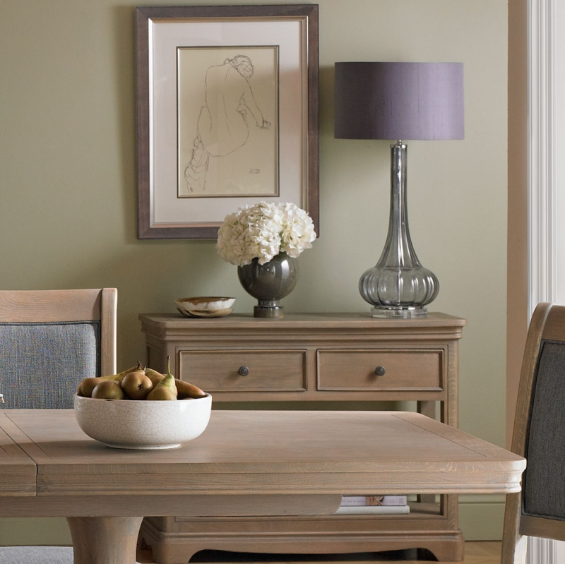 Georgina Limewashed Solid Oak 2 Drawer Console Table