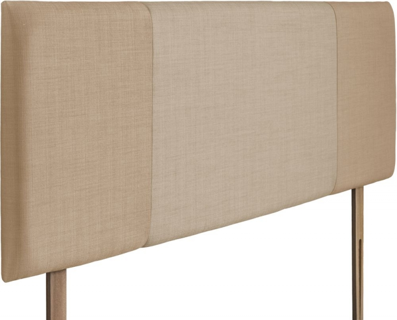 Seville Oatmeal and Beige Fabric Headboard