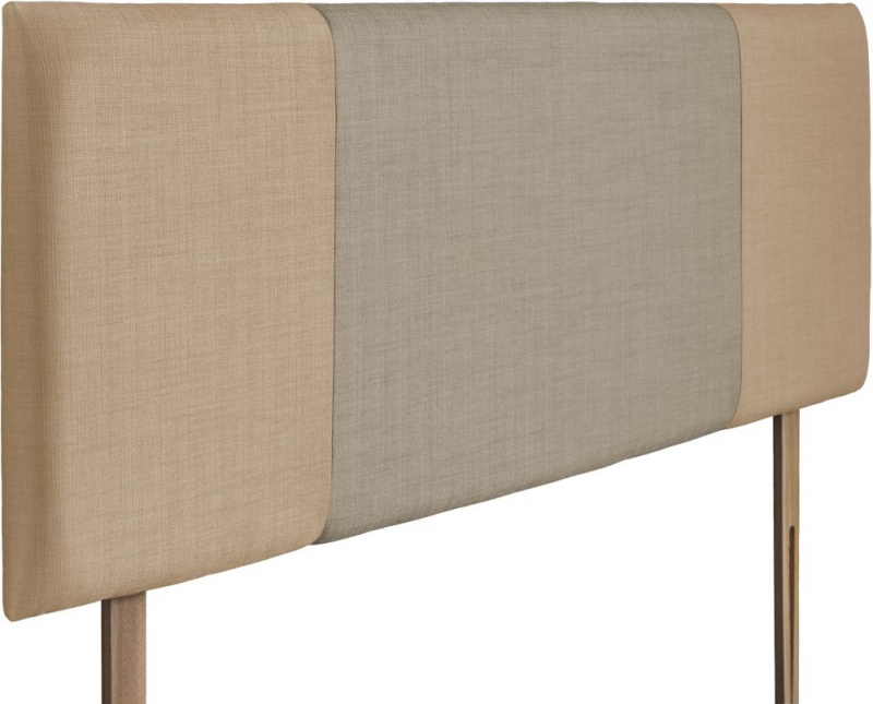 Seville Oatmeal and Fudge Fabric Headboard