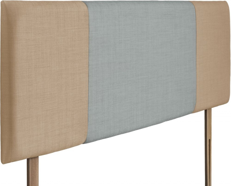 Seville Oatmeal and Sky Fabric Headboard