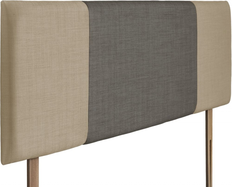 Seville Sand and Slate Fabric Headboard