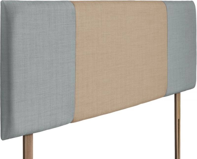 Seville Sky and Oatmeal Fabric Headboard