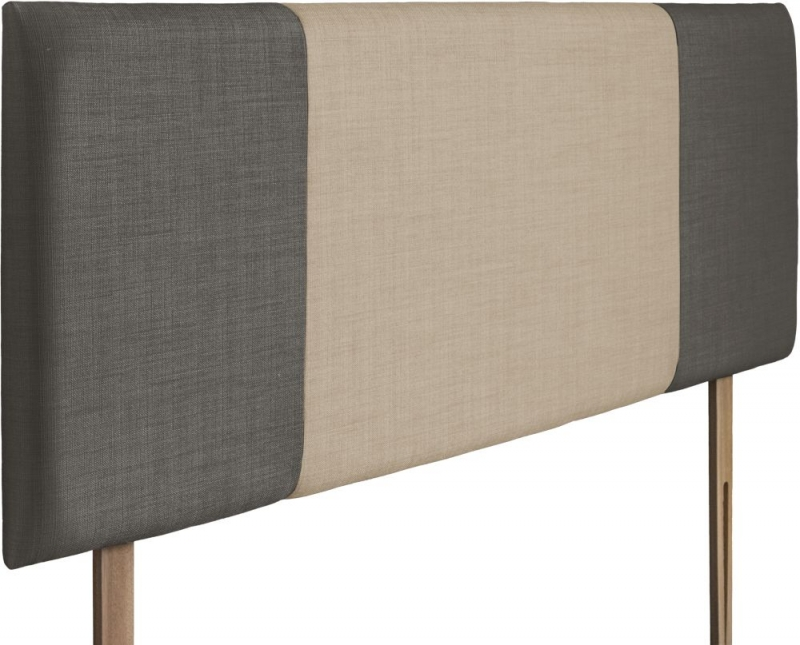 Seville Slate and Beige Fabric Headboard