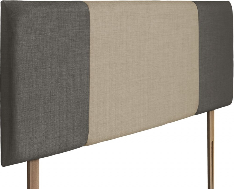 Seville Slate and Sand Fabric Headboard