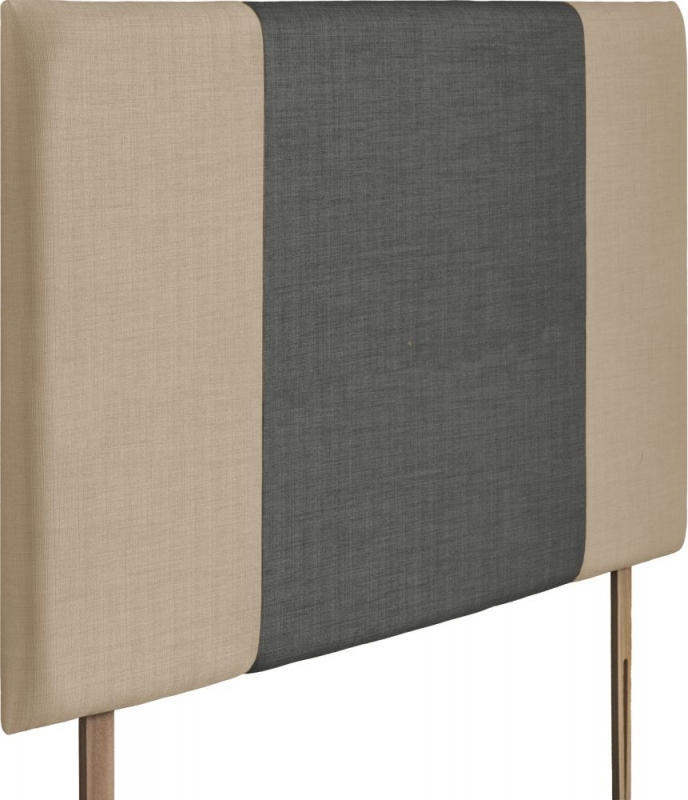 Seville Grand Beige and Granite Fabric Headboard