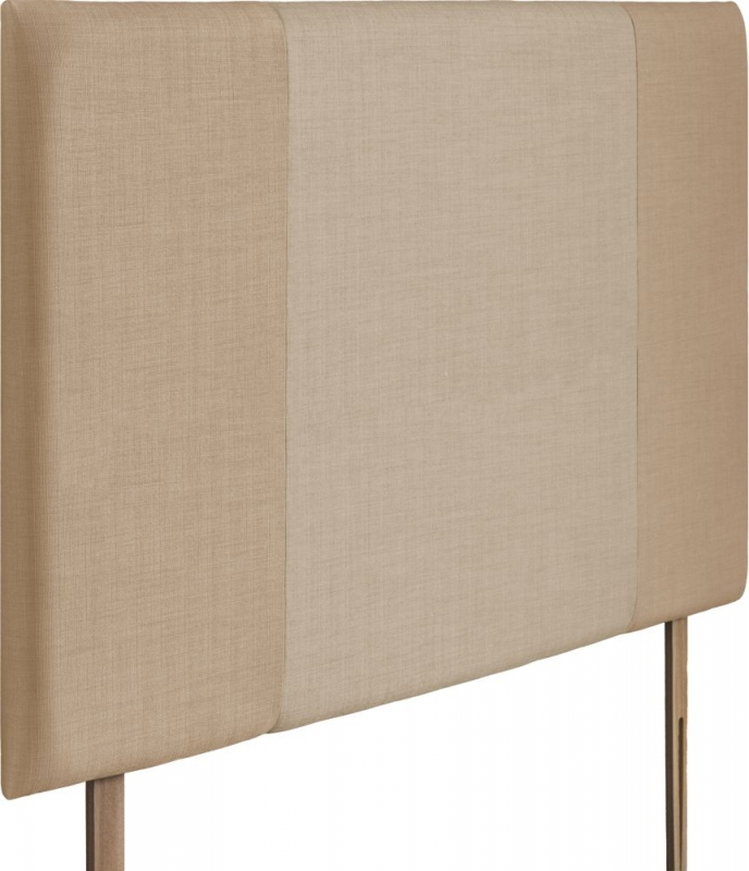 Seville Grand Oatmeal and Beige Fabric Headboard