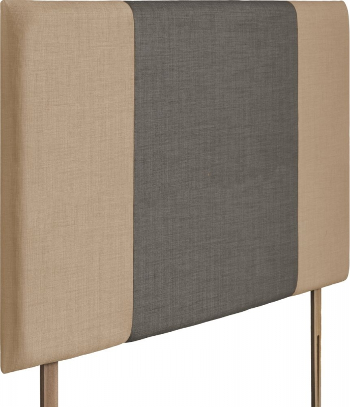 Seville Grand Oatmeal and Slate Fabric Headboard