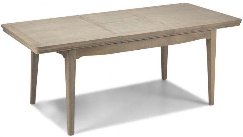 Georgina Grey Washed Oak Extending Dining Table and 4 Upholstered Chairs