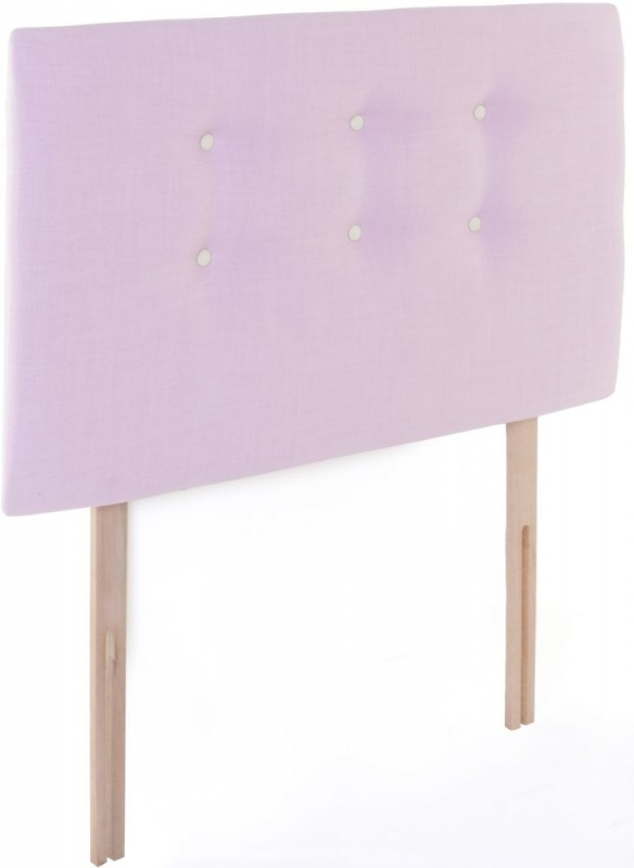 Eva Gem Pink Fabric Children Headboard