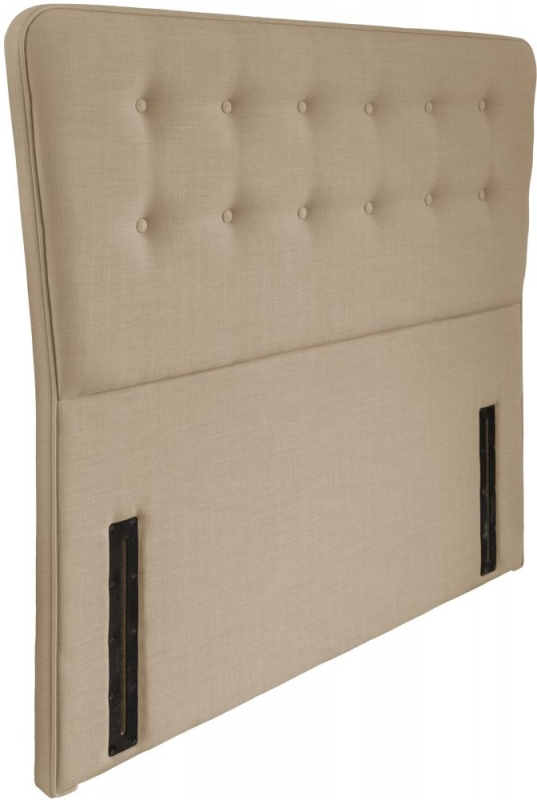 Manhattan Beige Floorstanding Fabric Headboard