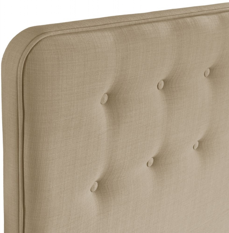 Manhattan Sand Floorstanding Fabric Headboard