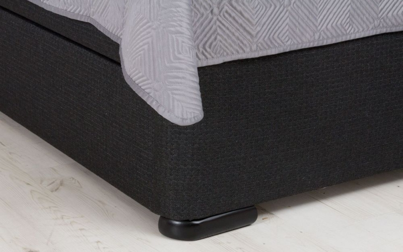 Fabric Contemporary Bed Base