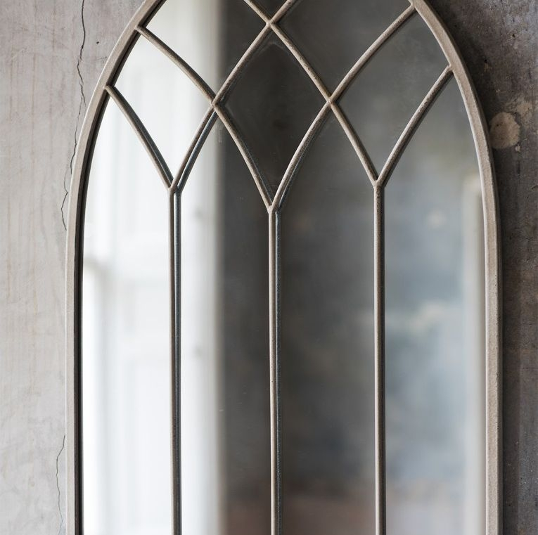 Gallery Direct Roebuck Metal Cream Arc Mirror - 50cm x 95cm