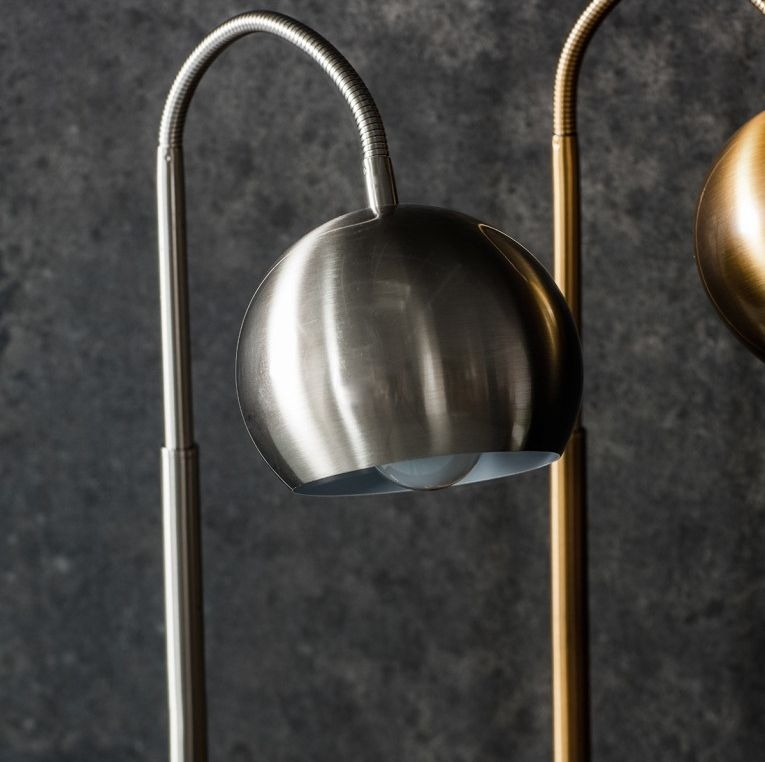Gallery Direct Dallas Bronze and Brushed Nickel Table Lamp
