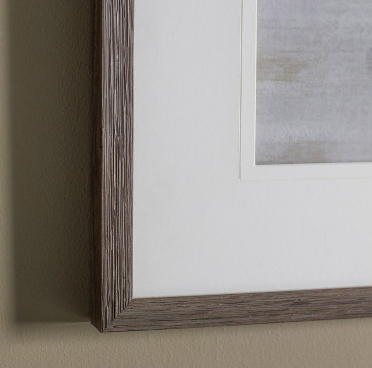 Gallery Direct Feather Faux Wood I Framed Art