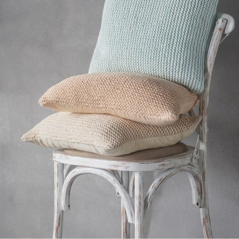 Gallery Direct Opal Knitted Cream Cushion (Set of 2)