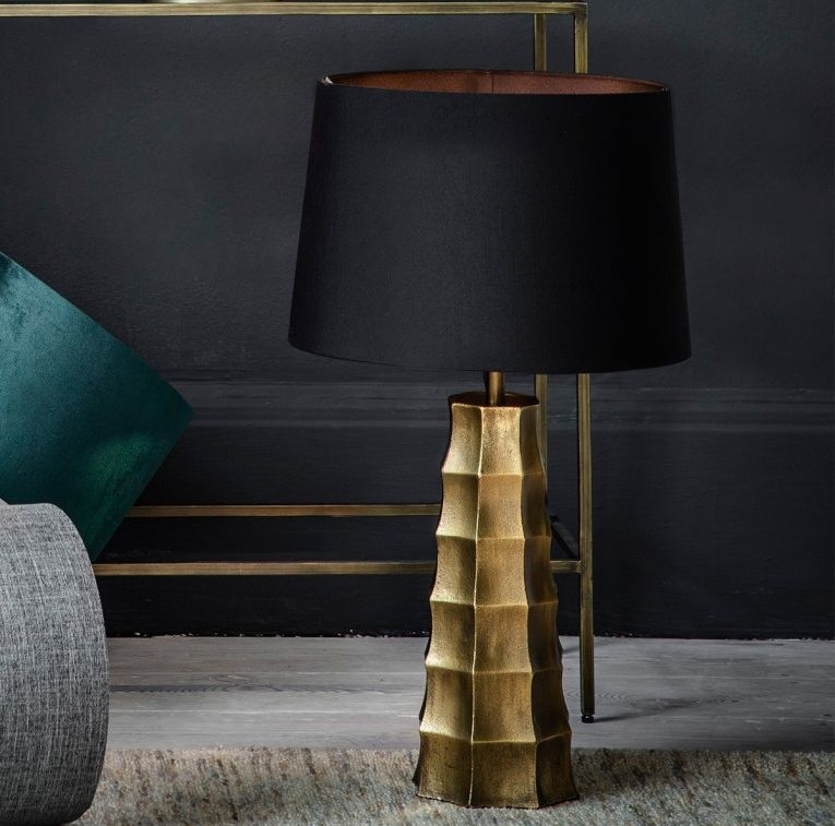 Gallery Direct Hadlock Antique Brass Table Lamp