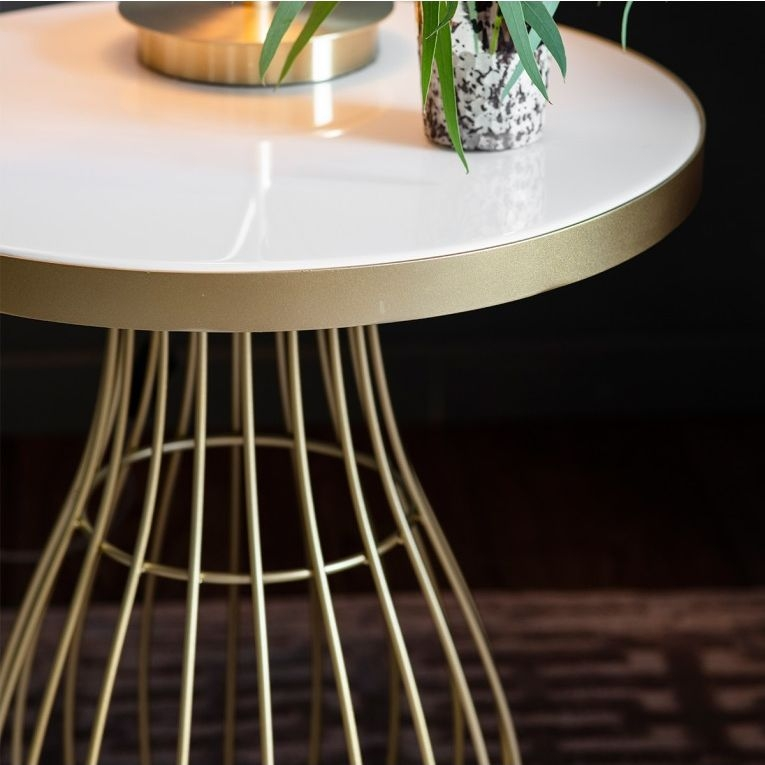 Gallery Direct Southgate Champagne Side Table