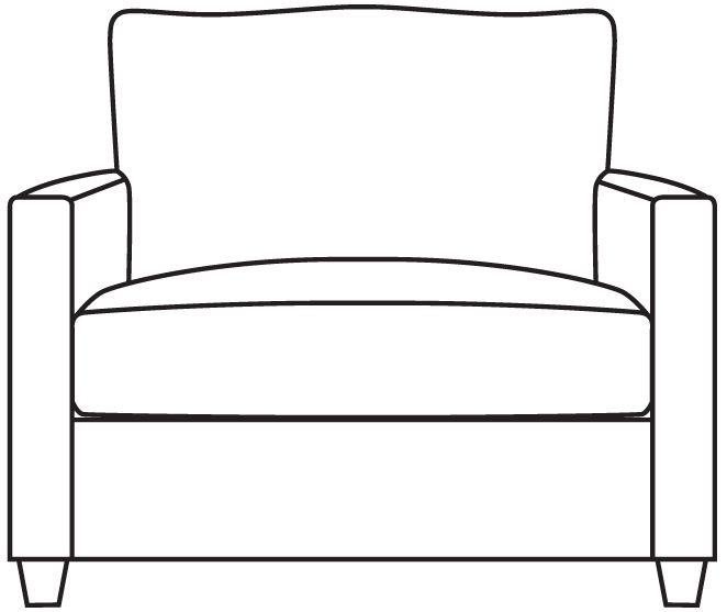 Gallery Bradstock Loveseat Fabric Sofa Bed