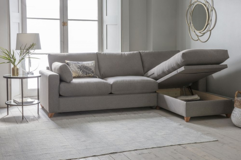 Gallery Burton Fabric Ottoman Sofa Bed - Right Hand