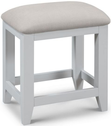 Julian Bowen Richmond Oak and Grey Dressing Stool