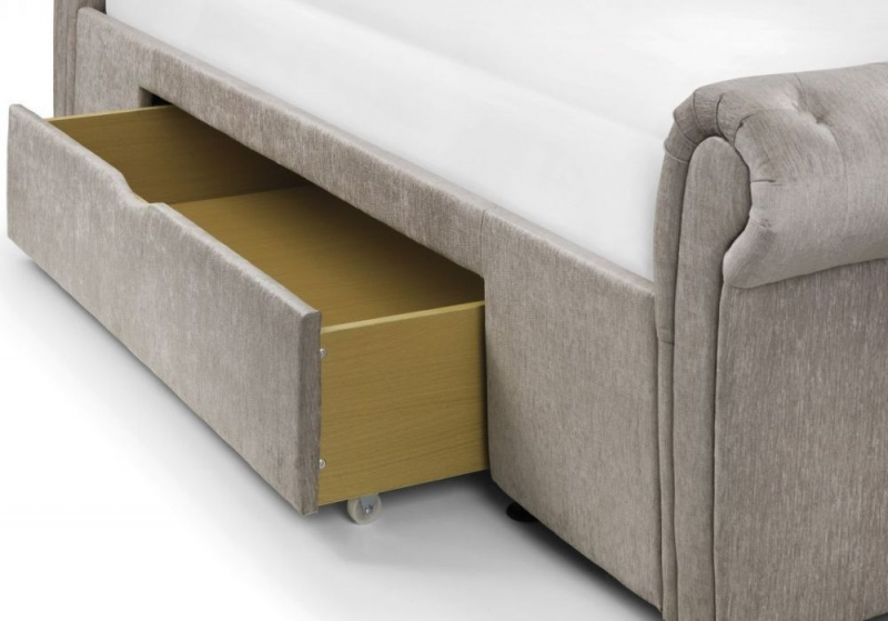 Julian Bowen Ravello Storage Bed - Mink Fabric