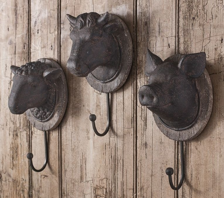 Gallery Direct Cow Head Aged Bronze Hook