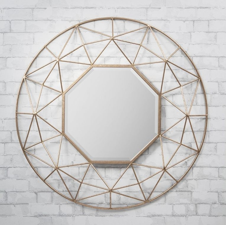 Gallery Direct Andromeda Gold Mirror - 88.5cm x 88.5cm