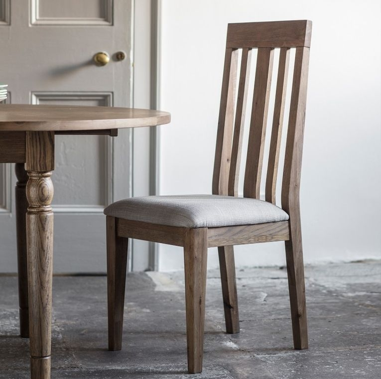 Gallery Direct Cookham Oak Round Extending Dining Set with 4 Chairs - 120cm-155cm