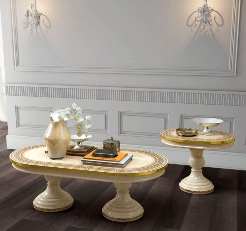 Camel Aida Day Ivory Italian Coffee Table