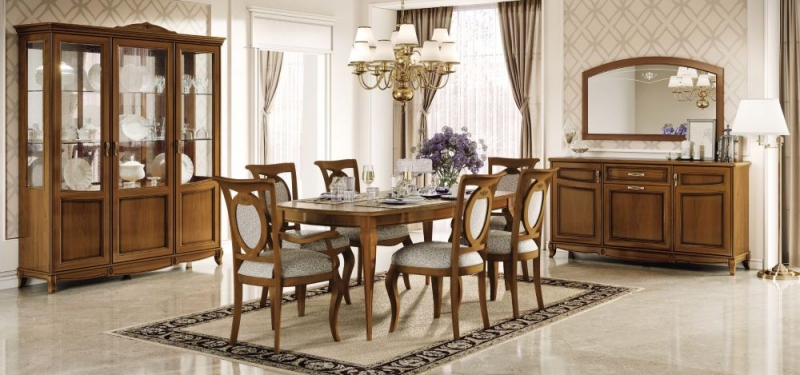 Camel Fantasia Day Walnut Italian Dining Chair (Pair)