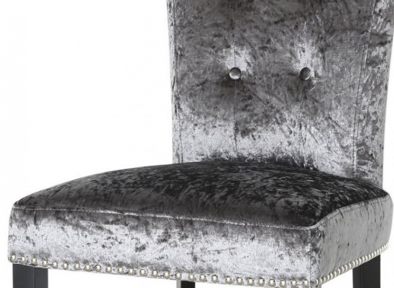 Hardy Charcoal Velvet Dining Chair (Pair)