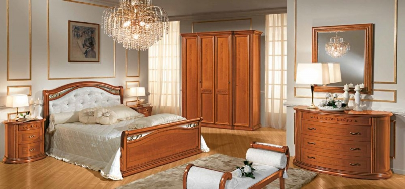 07875e73fc84 Camel Siena Night Medallion Cherry Italian 5ft King Size Bed with Footboard