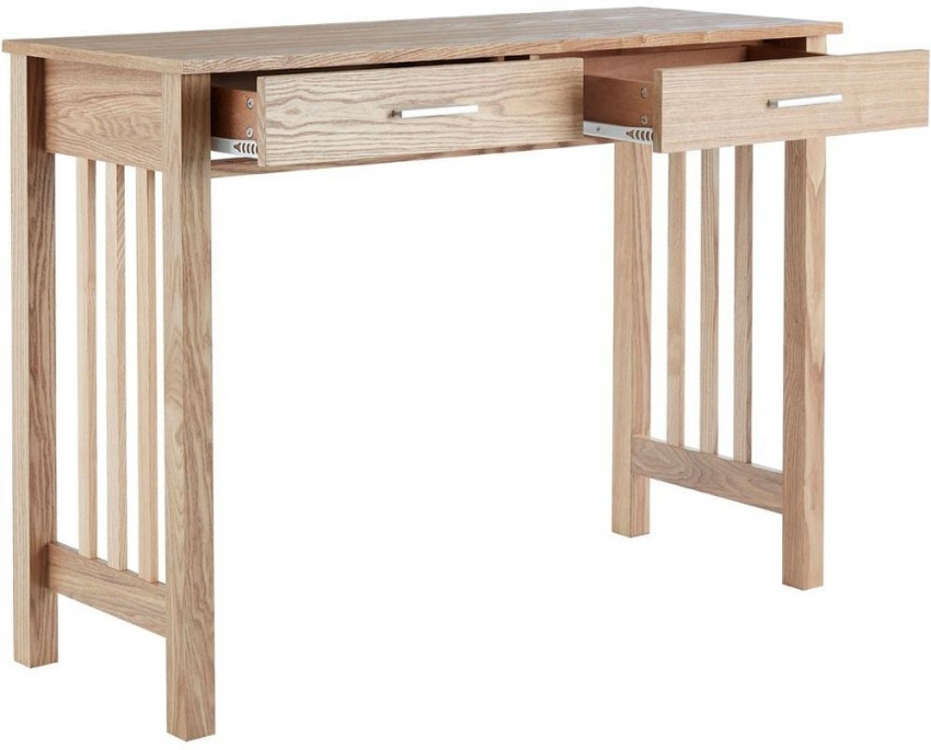 Lincoln Ash Console Table - 2 Drawer