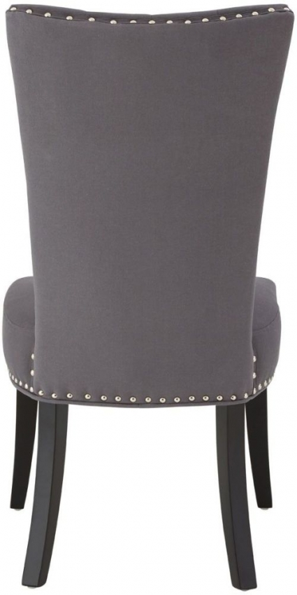 Regents Park Tufted Button Light Grey Fabric Dining Chair (Pair)