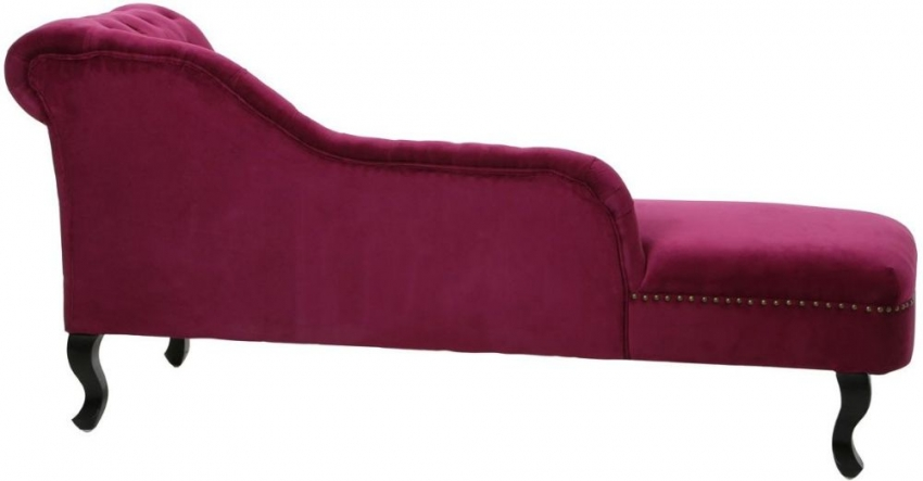 Regents Park Chesterfield Tuffted Button Pink Cotton Fabric Chaise Longue