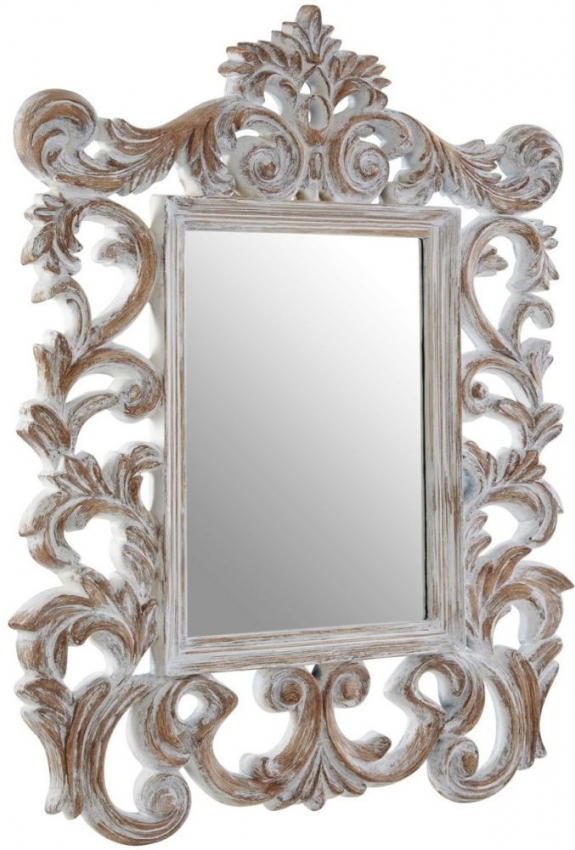 Rococo Antique Grey Wall Mirror