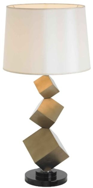 RV Astley Bronze Cube Table Lamp