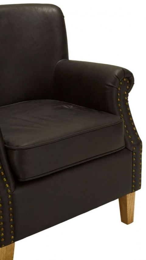 Trinity Brown Faux Leather Armchair - CFS Furniture UK