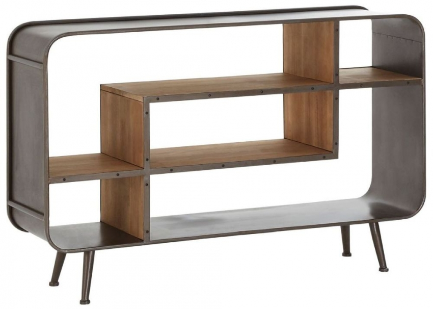 Trinity Bookcase - Wood and Metal