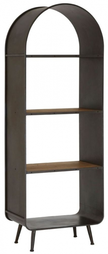 Trinity Tall Bookcase - Wood and Metal