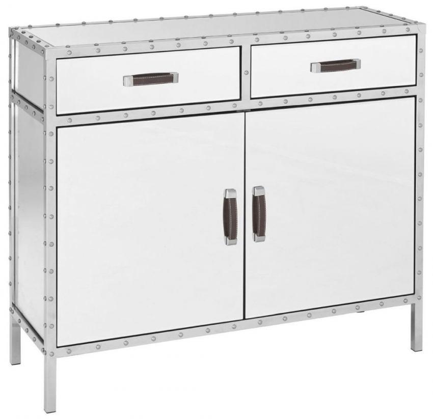 Rivet Mirrored Glass Sideboard