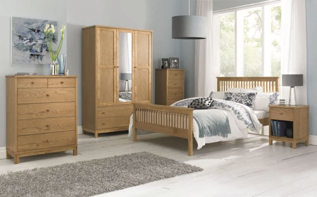 Bentley Designs Atlanta Oak Wardrobe - Triple